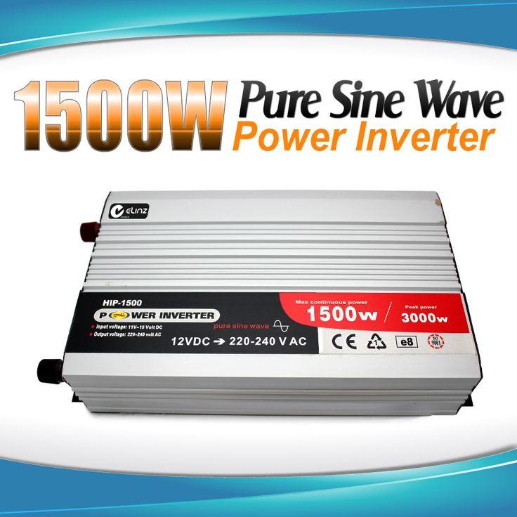 Pure Sine Wave Power Inverter 1500w / 3000w 12v - 240v AUS plug Car Boat Caravan |Elinz