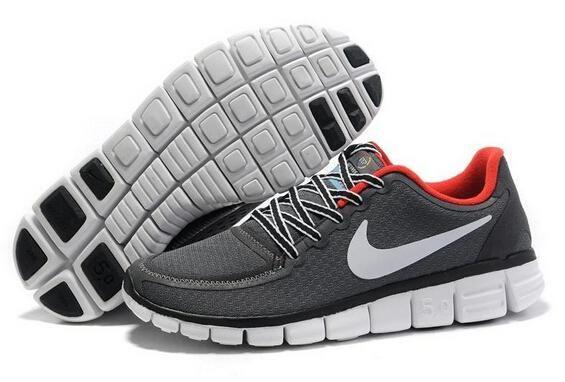 Nike Free 5.0 V5 Rennen Schoenen Wit Zwart Rood Verkoopprijs:€58,63