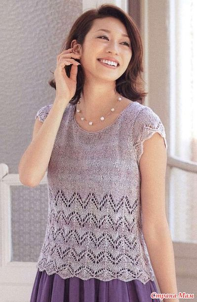 Delicate top spokes. - Knitted fashion + NEMODELNYH FOR LADIES - Country Mom