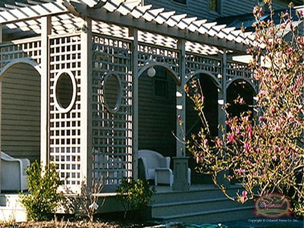 Love the corner trellis idea for added privacy.  Would be a good idea for the backyard sitting area or the backyard corner by where the shed will be.