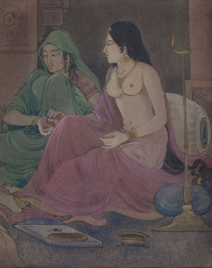 Ramgopal Vijaivargiya Medium: Tempera on paper Year: 1940s Size: 9 x 7 in.