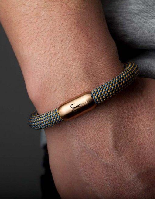 Segeltau Armband Königsmakrele 2.0 blau gedreht | Fischers Fritze