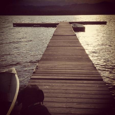 Tamarack dock, Seeley Lake, MT