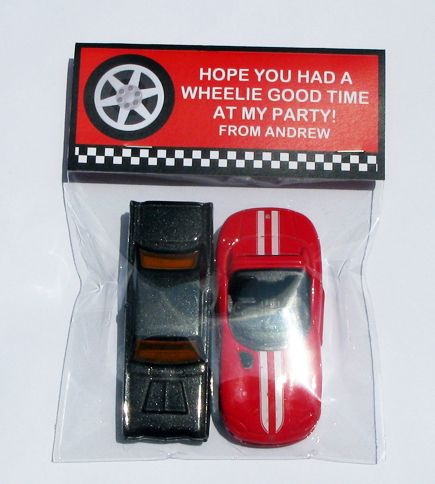 Racing Car Theme Treat Bag Toppers