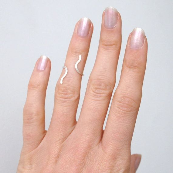 Sterling silver above the knuckle ring adjustable by ChristinaEcco9.93