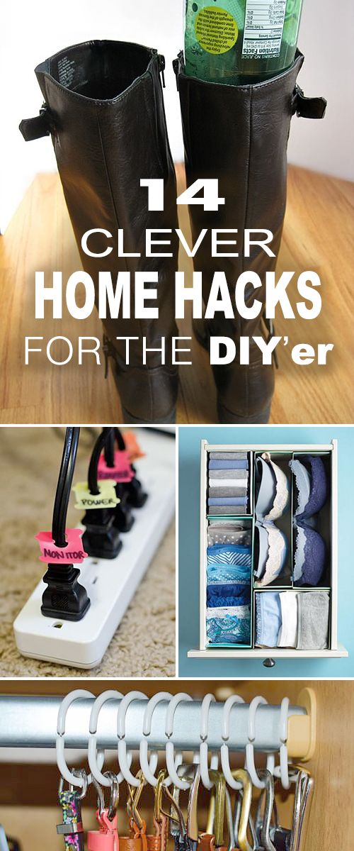 14 Clever Home Hacks for the DIY'er! • Tips, ideas and tutorials for some great projects! #DIY #homehacks #DIYhomehacks #homeorganization