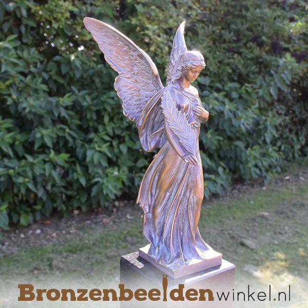 Bronzen Engelen Beelden.Tuinbeeld Engel Brons Bbw94530 Tuinbeelden Bronzen Brons