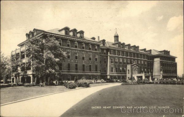 1957 Lisle IL Sacred Heart Convent and Academy DuPage County Illinois Linen PC I went there 1966/67