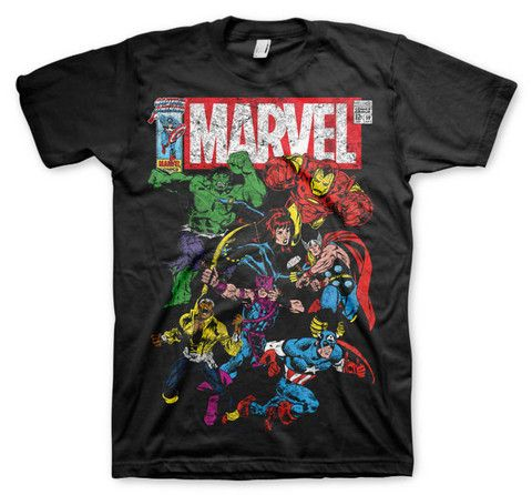 Marvel Comics - Team-Up T-Shirt (Black)