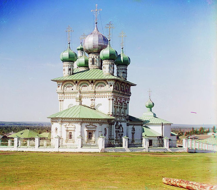 Old church of Saint Nicholas the Wonder Worker, Nyrob; 1910  Sergei Mikhailovich Prokudin-Gorskii Collection