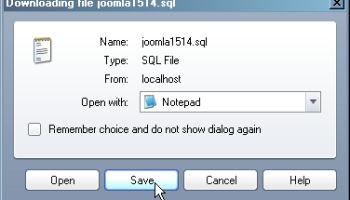 Langkah-langkah Dumping Database MySQL di komputer Anda