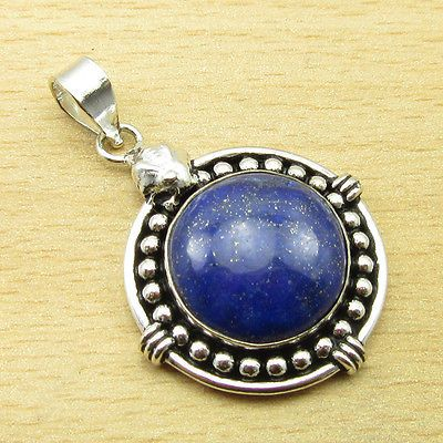 LAPIS LAZULI Pendant 1 5/8 Inches ! Silver Plated Fashion Jewellery ONLINE STORE | eBay