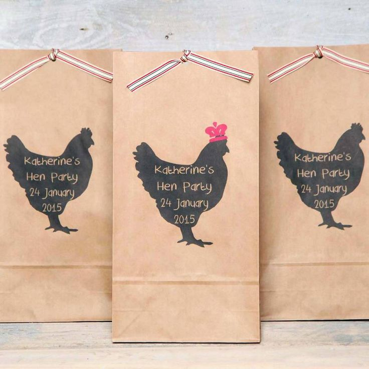 Personalised Kraft paper party bags.Our personalised hen night bags are the perfect finishing touch for your hen night favours. The silhouette design is very effective and a great base for your message. Personalise each bag with your own hen night message, you can have them all the same or use separate messages on each one. The first bag of each order will be supplied with the pink crown detail for the bride, this also applies to the badges. Please contact us if you do not require a bag with…