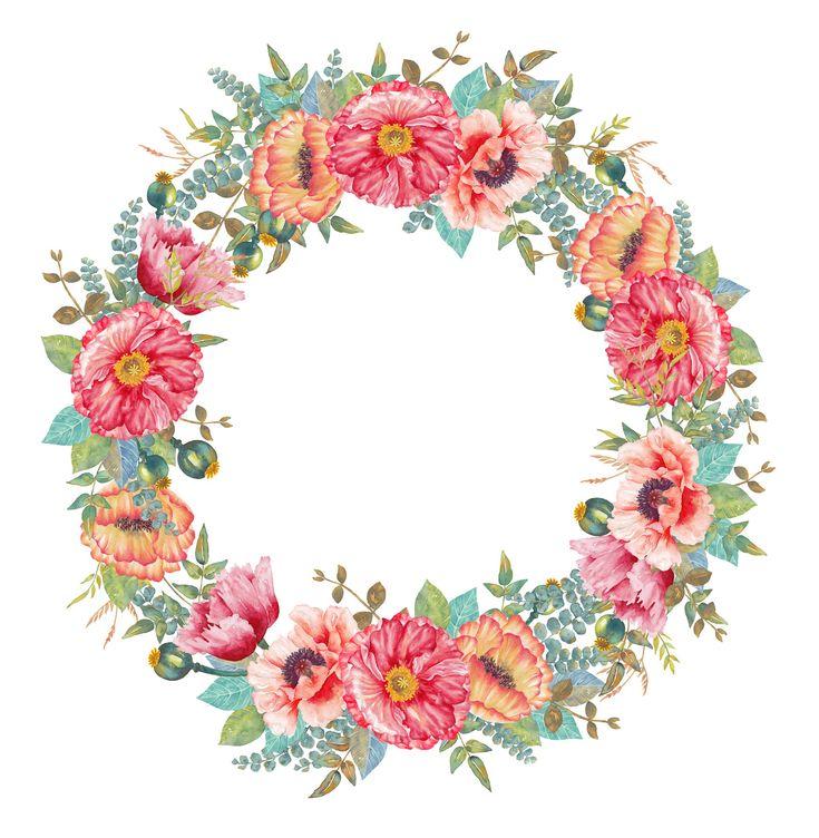 Картинки с цветами, веночки