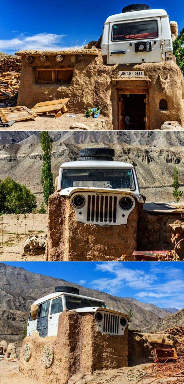 Home With A Mahindra Jeep Roof Spotted In Ladakh Mud