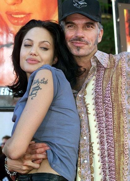 (married in 2000) Angelina Jolie & Billy Bob Thornton - divorced in 2003Open Relationships, Angelina Jolie'S, Celebrities Tattoo, Tattoo Design, Brad Pitt, Engagement Ring, Jolie Tattoo, Angelinajolie, Billy Bobs Thornton