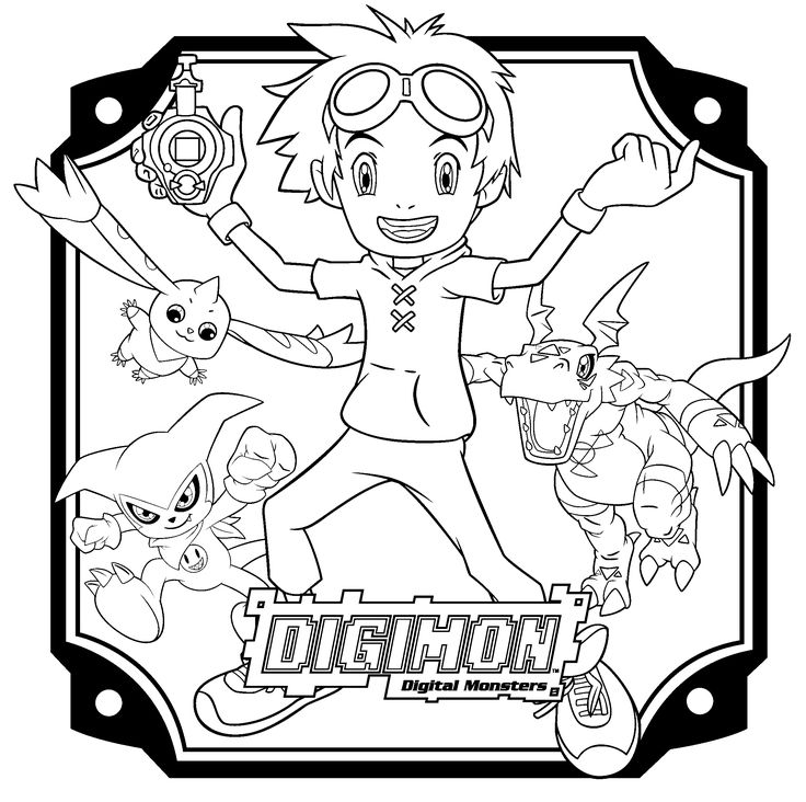 Free Digimon Coloring Page Pages 7 Printable