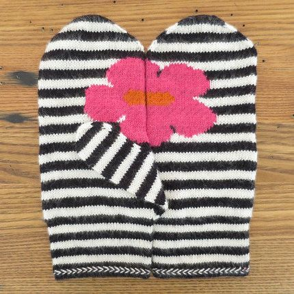 Floral Mittens for May, in June