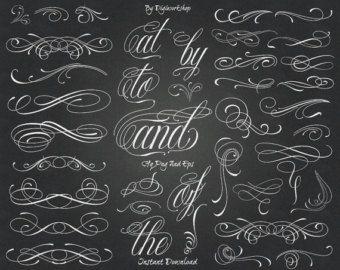 Chalkboard Laurel Clip Art Clipart: Chalkboard by DigiWorkshop