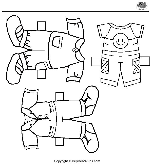 Print Coloring Pages Of Cloth