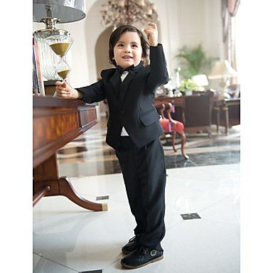 Possibility, Three Pieces Black Ring Bearer Suit Boys Tuxedo – USD $ 49.49