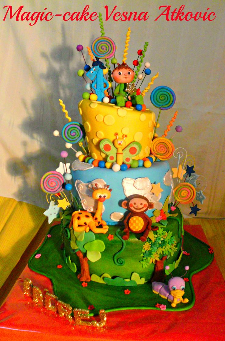 Baby tv cake for children pinterest tvs and babies for Baby tv birthday decoration