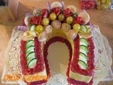 Slaný dort - podkova - foto postup