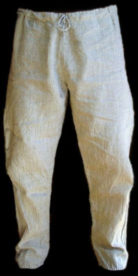 """Linen Trousers - """"Our linen is pre-washed, pre-shrunk and pre-ironed. It is therefore safe for you to wash it in a washing machine at up to 90 degrees centigrade, but to preserve the fabric for as long as possible we recommend that you keep the temperature down to 40 degrees centigrade as washing it at higher temperatures will slowly desroy the natural """"glue"""" that binds the fibres together."""""""
