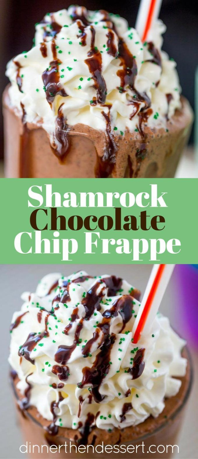 McDonald's Shamrock Chocolate Chip Frappe has a mocha caramel base with mint and chocolate chips blended in for a mint mocha frozen treat you'll love topped with chocolate sauce and whipped cream.