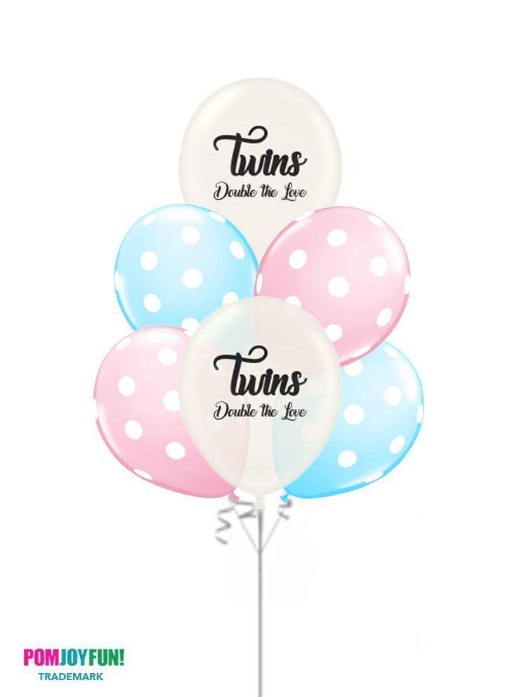 Gender Reveal Ideas For Twins Boys Girls Or One Of Each Gender Reveal Balloons Twin Gender Reveal Gender Reveal