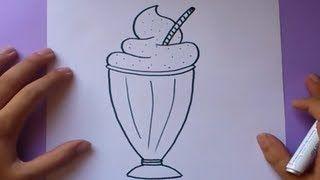 Malteada En 2019 Dibujos Como Dibujar Un Helado Y Cómo
