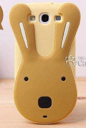 Cute 3D Cartoon Rabbit Soft Silicone Case Cover for Samsung Galaxy S3 i9300
