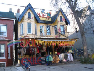 Kensington Ave, Toronto: part of Kensington Market, Kensington Ave is know for it rows of vintage clothing shops, which were around before today's cultural concept if vintage was ever born.