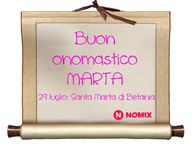 Buon onomastico Marta!