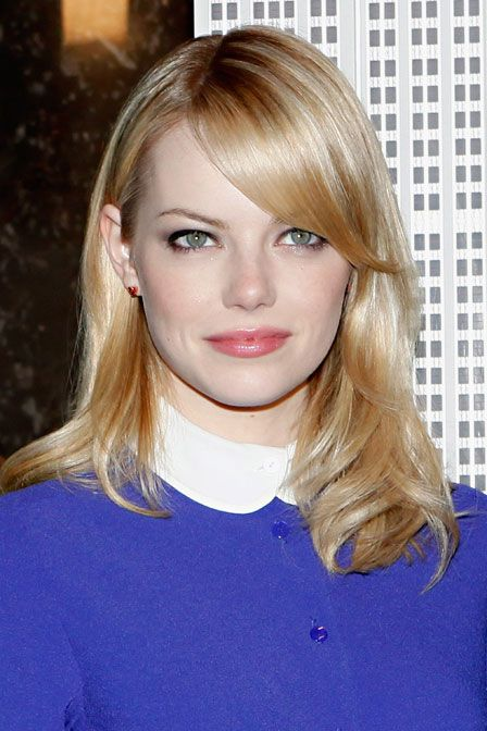 Emma Stone shows us how to rock the purple eyeshadow …