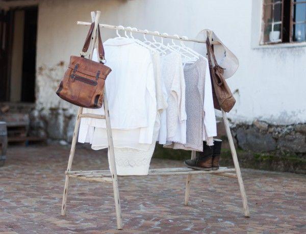Laths Clothes Rack, www.at-life.co.za  #theatLIFEbrand #decor #interiordecorating #ecofurniture #greenfurniture #recycled furniture #rusticdecor #rusticinteriors