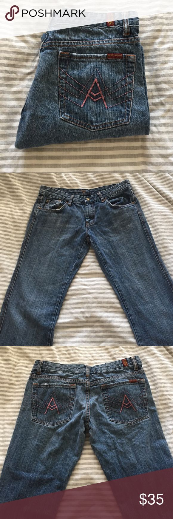 "7 for all mankind ""A"" pocket jeans Seven for all mankind jeans in the ""A"" pocket style. In great condition & in a size 30. 7 For All Mankind Jeans"