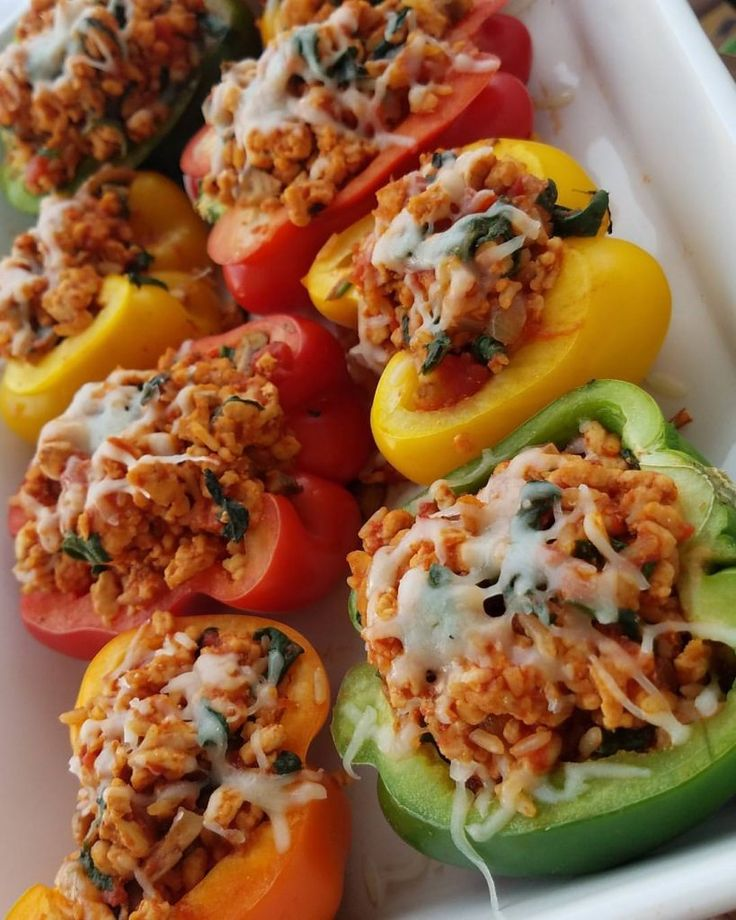 Simple+and+Delicious+Turkey+Stuffed+Peppers,+Clean+Eating+Approved!+|+Clean+Food+Crush