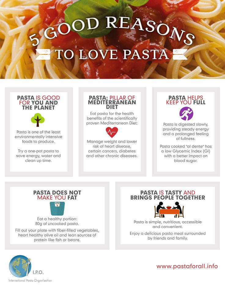 Pasta lovers are celebrating World Pasta Day on October 25, and there are at lest five good reasons to do so ! http://www.pastaforall.info/wordpress/wp-content/uploads/2015/10/EURO-content-high-res.jpg