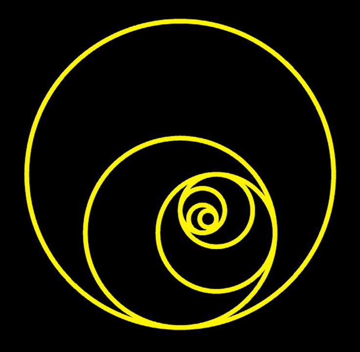 Golden Crescent, The Fibonacci spiral's quarter circles made complete