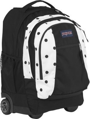 JanSport Driver 8 Rolling Backpack White / Black Gracie Dot - via eBags.com!