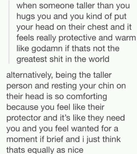 This is why I will always enjoy having a taller boyfriend