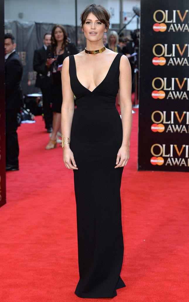 Джемма Артертон в платье Dsquared² на церемонии вручения премий Olivier Awards в Лондоне