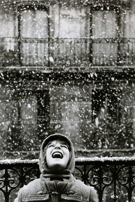 Édouard Boubat  Florence  Paris, France, 1960  From Édouard Boubat: A Gentle Eye: Photos, Winter Wonderland, Art, Under, Édouard Boubat, La Neige, Edouard Boubat, Let It Snow, Photography