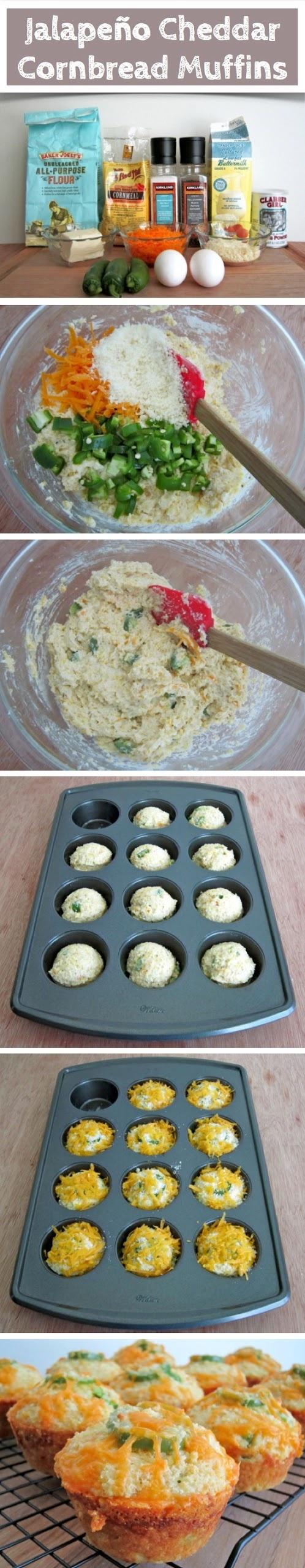 joysama images: Jalapeño Cheddar Cornbread Muffins