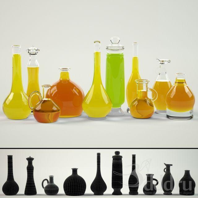 """""""PROFI"""" Баночки-скляночки 3dsMax 2012 + fbx (Vray) : Мелочь для кухни : Файлы : 3D модели, уроки, текстуры, 3d max, Vray"""