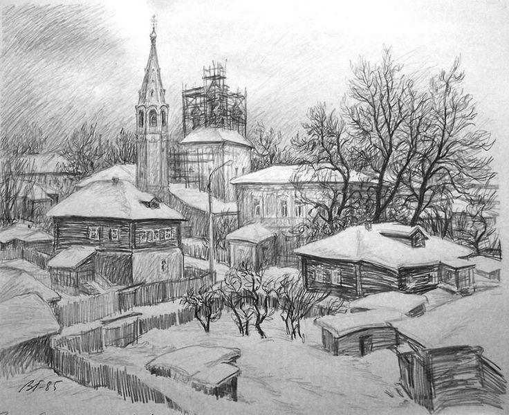 карандашный рисунок города: 18 тыс изображений найдено в Яндекс.Картинках