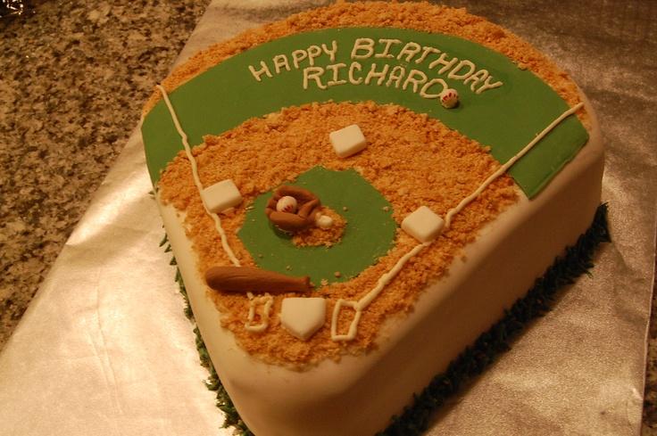 Play BALL!  Baseball Field Cake