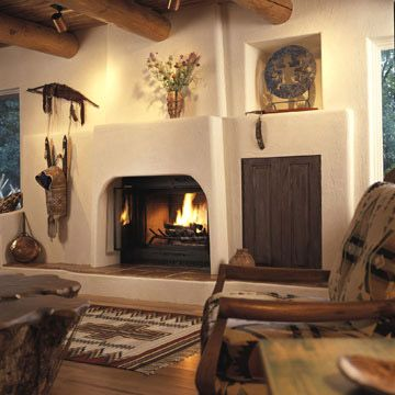 149 best images about home southwest living room design for Fireplaces southwest