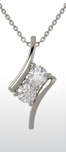 Two Stone Diamond Pendant